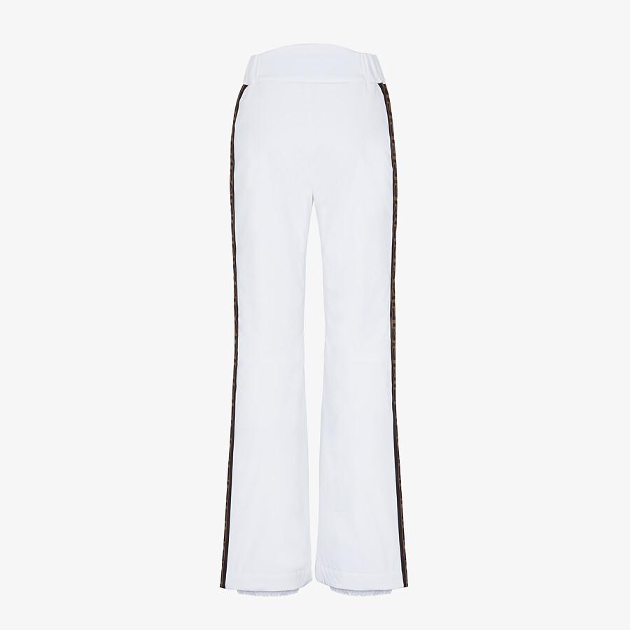 FENDI SKI PANTS - White tech nylon ski pants - view 2 detail