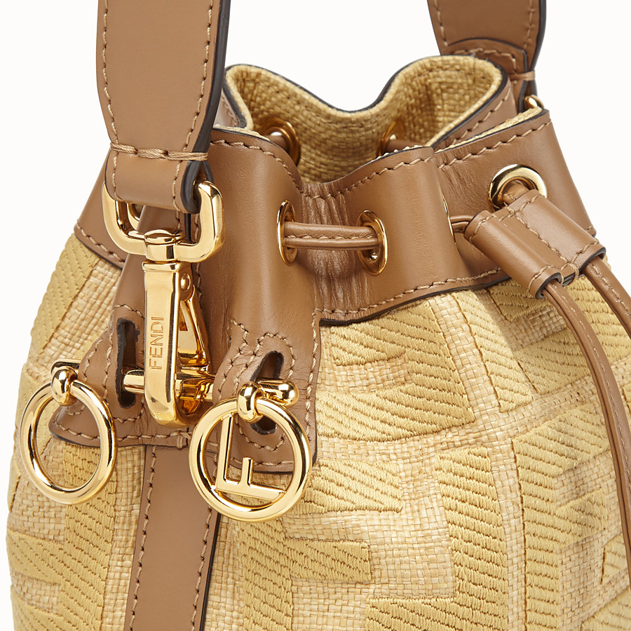 FENDI MON TRESOR - Beige raffia mini bag - view 6 detail