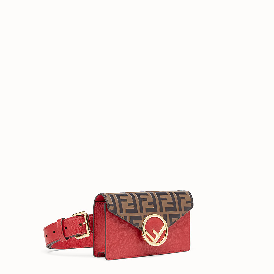 FENDI BELT BAG - Red leather belt bag - view 2 detail