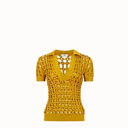 FENDI PULLOVER - Poloshirt aus Strickstoff in Gelb - view 1 thumbnail
