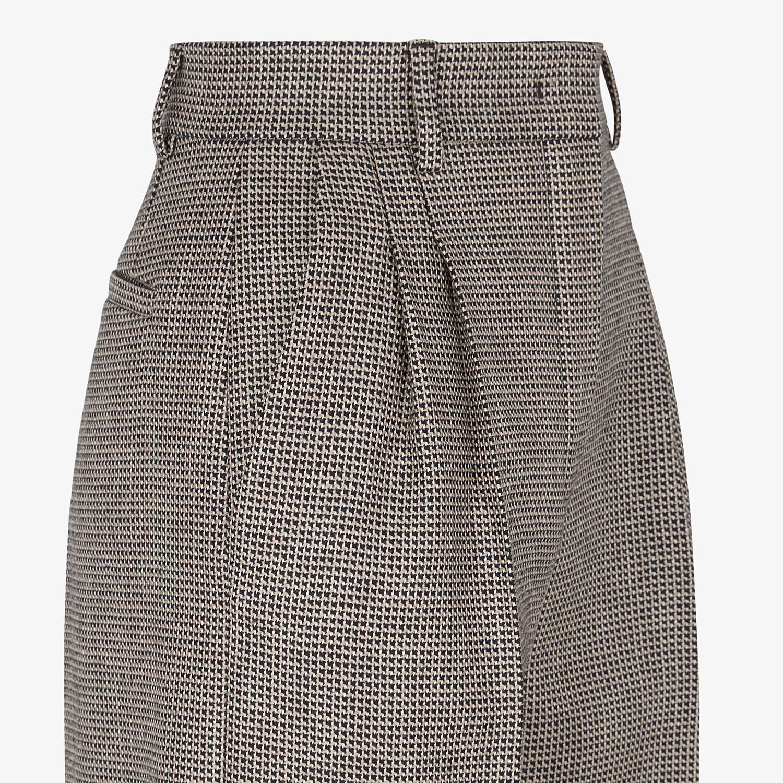 FENDI TROUSERS - Brown wool trousers - view 3 detail