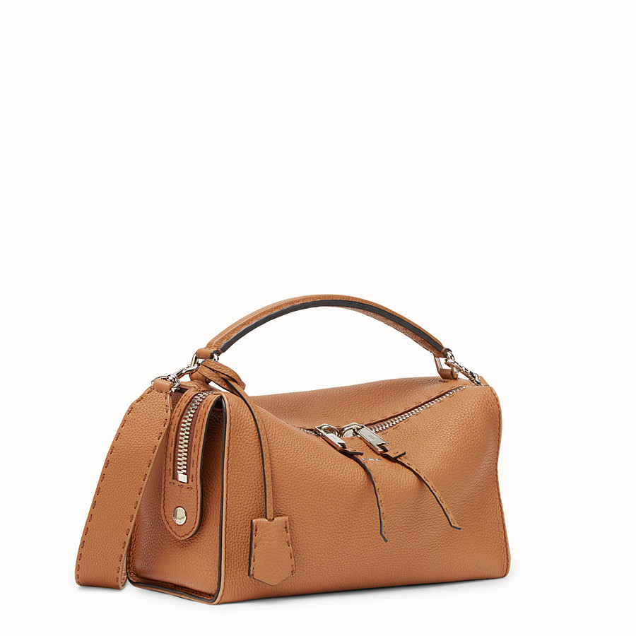 FENDI LEI SELLERIA BAG - Toffee Roman leather Boston bag - view 2 detail
