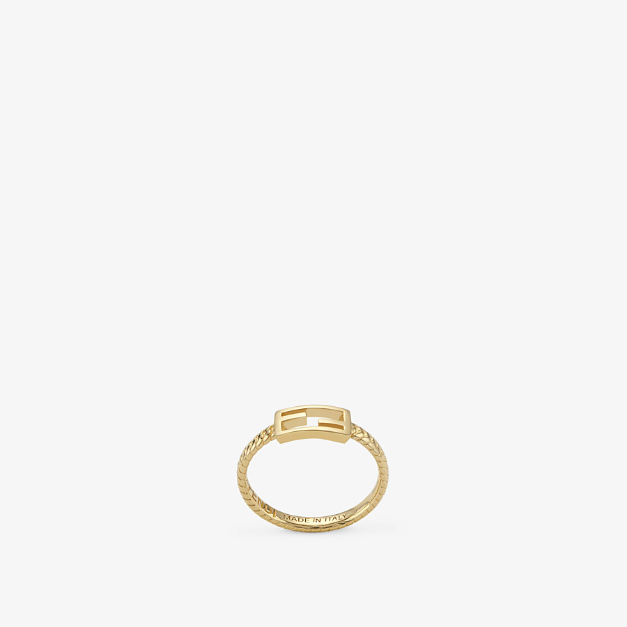 FENDI BAGUETTE RING SMALL - Gold-colour ring - view 1 detail