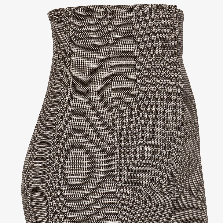 FENDI SKIRT - Gray wool skirt - view 3 detail