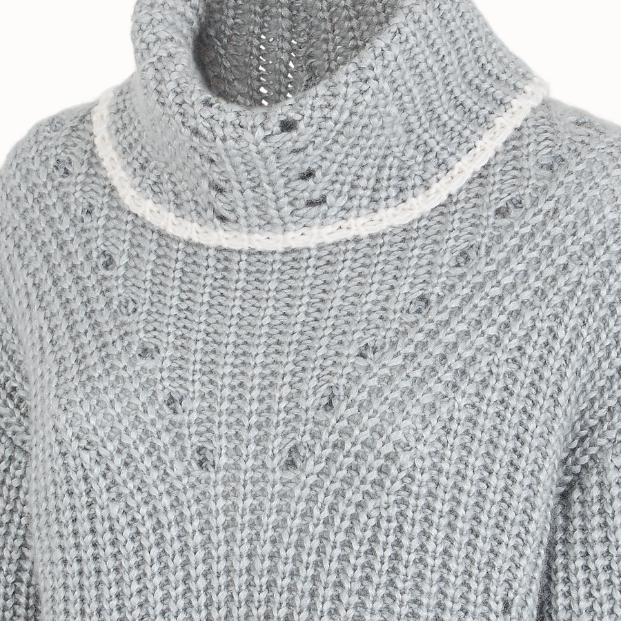 FENDI JUMPER - Grey cashmere sweater - view 3 detail