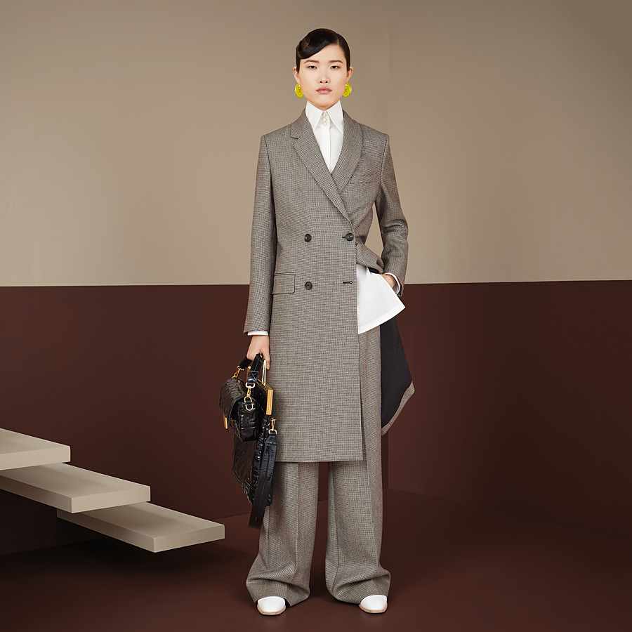 FENDI COAT - Brown wool coat - view 4 detail