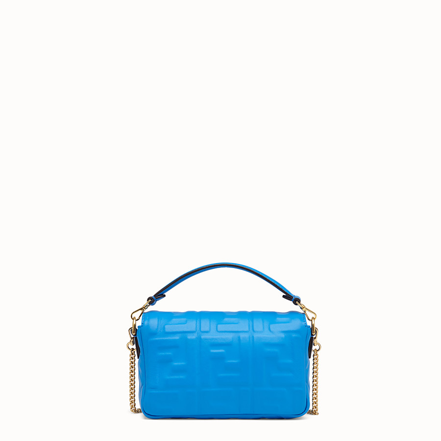 FENDI BAGUETTE - Blue leather mini-bag - view 3 detail