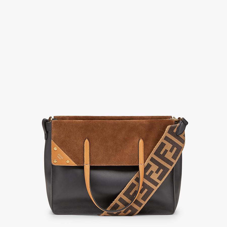 FENDI FENDI FLIP LARGE - Multicolour leather and suede bag - view 1 detail