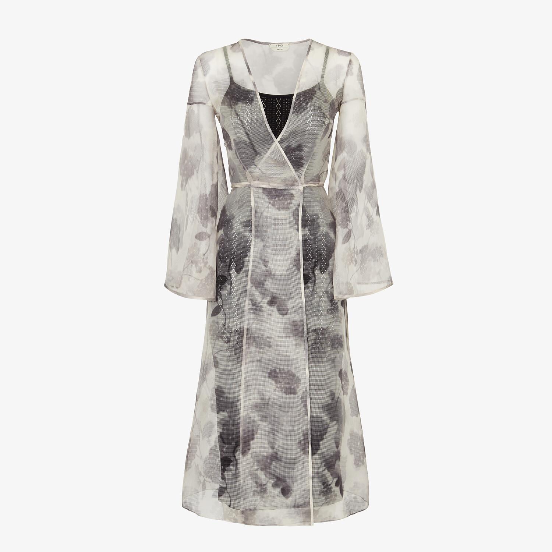 FENDI DRESS - Gray organza dress - view 1 detail
