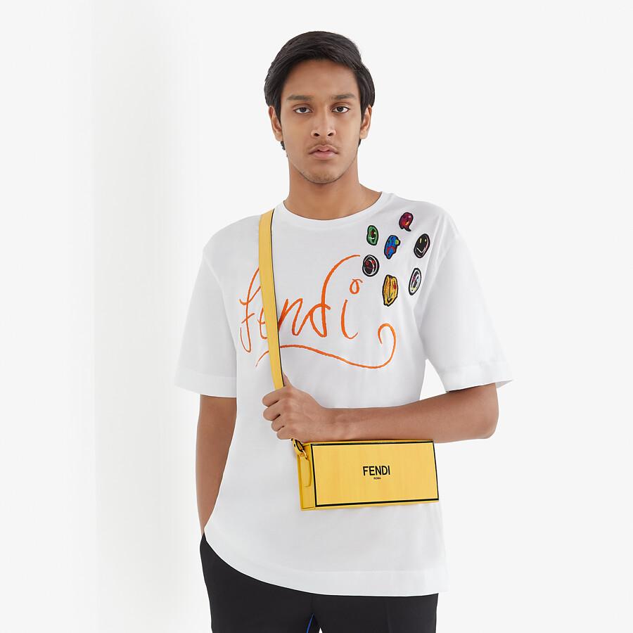 FENDI HORIZONTAL BOX - Bolso de piel amarillo - view 6 detail