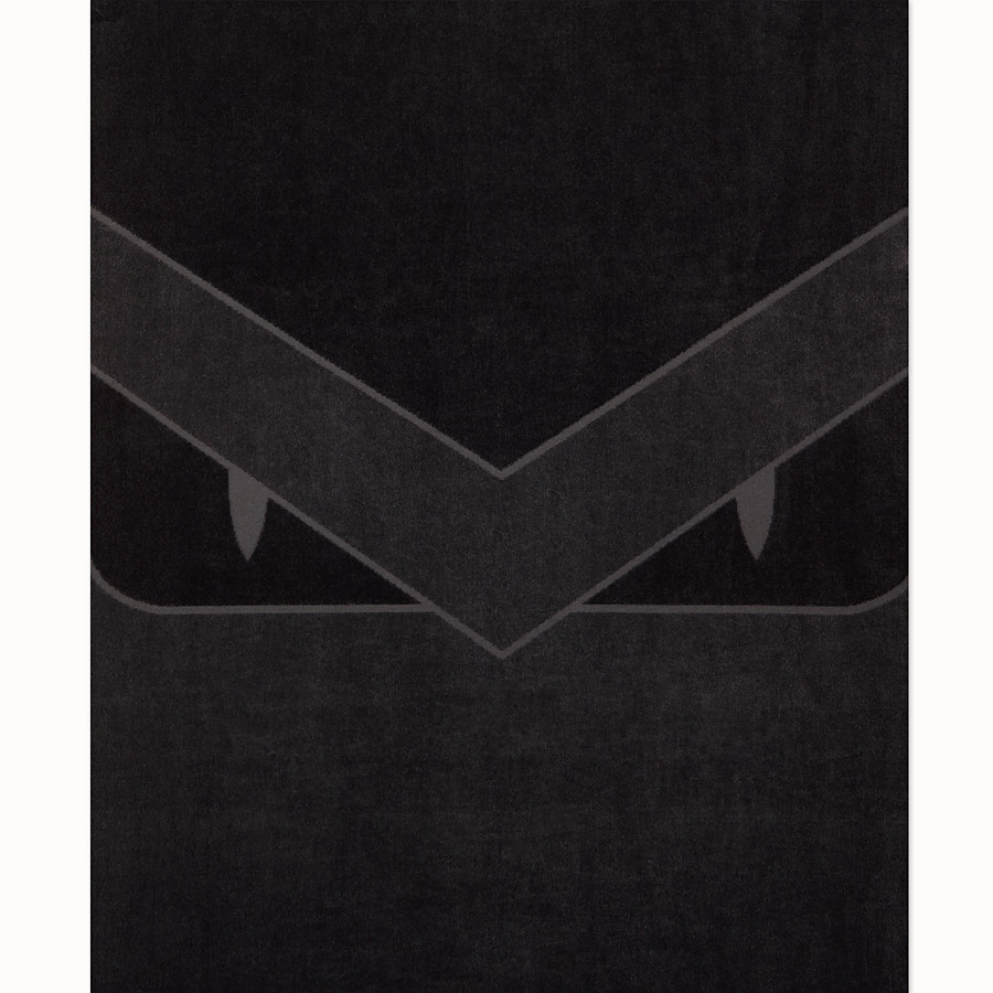 FENDI 沙灘巾 - 黑色棉質海灘巾 - view 3 detail