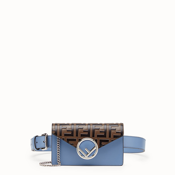 FENDI BELT BAG - Pale blue leather belt bag - view 1 small thumbnail