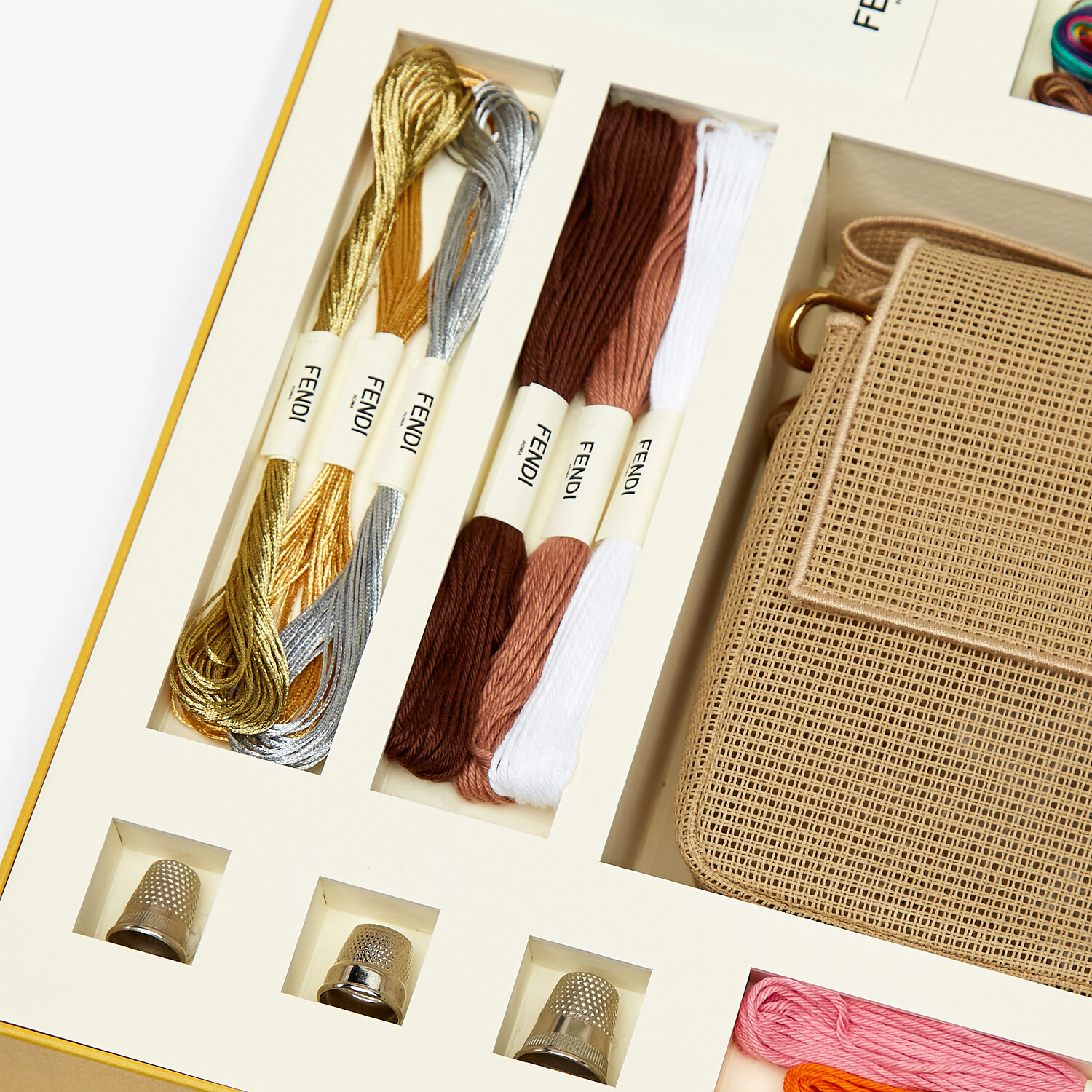 FENDI BAGUETTE - Bag with embroidery kit for adding a personal touch - view 6 detail