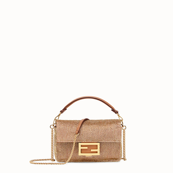 FENDI BAGUETTE MINI - Brown leather bag - view 1 small thumbnail