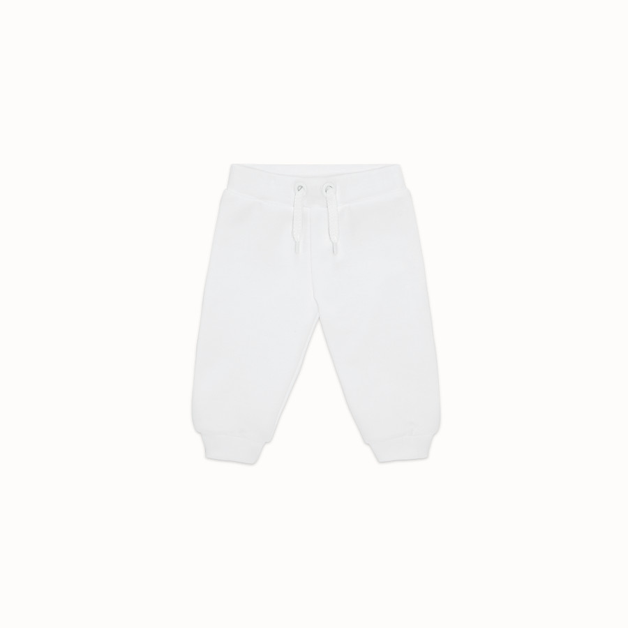 FENDI TROUSERS - White fleece trousers - view 1 detail