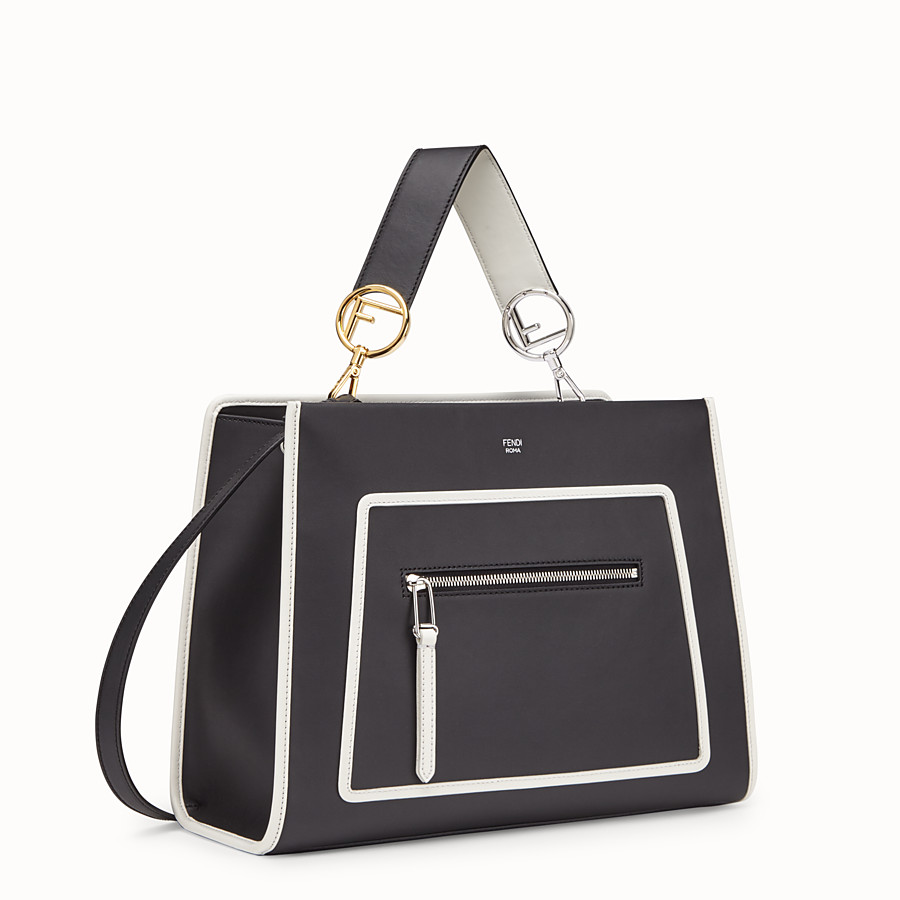 FENDI RUNAWAY REGULAR - Black leather bag - view 2 detail