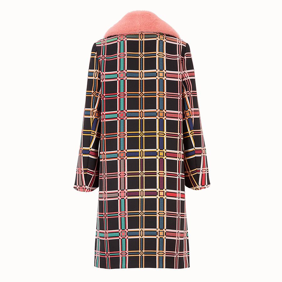 FENDI COAT - Madras fabric check coat - view 2 detail