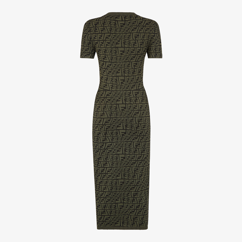 FENDI DRESS - Green viscose dress - view 2 detail