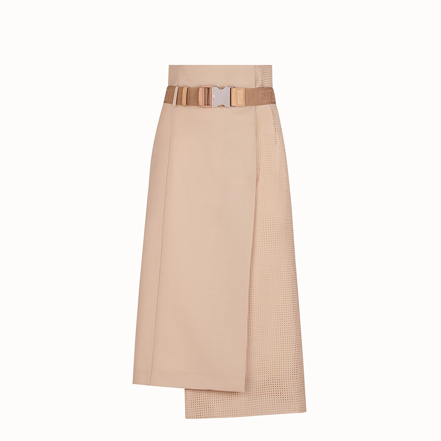 FENDI SKIRT - Beige mohair skirt - view 1 detail