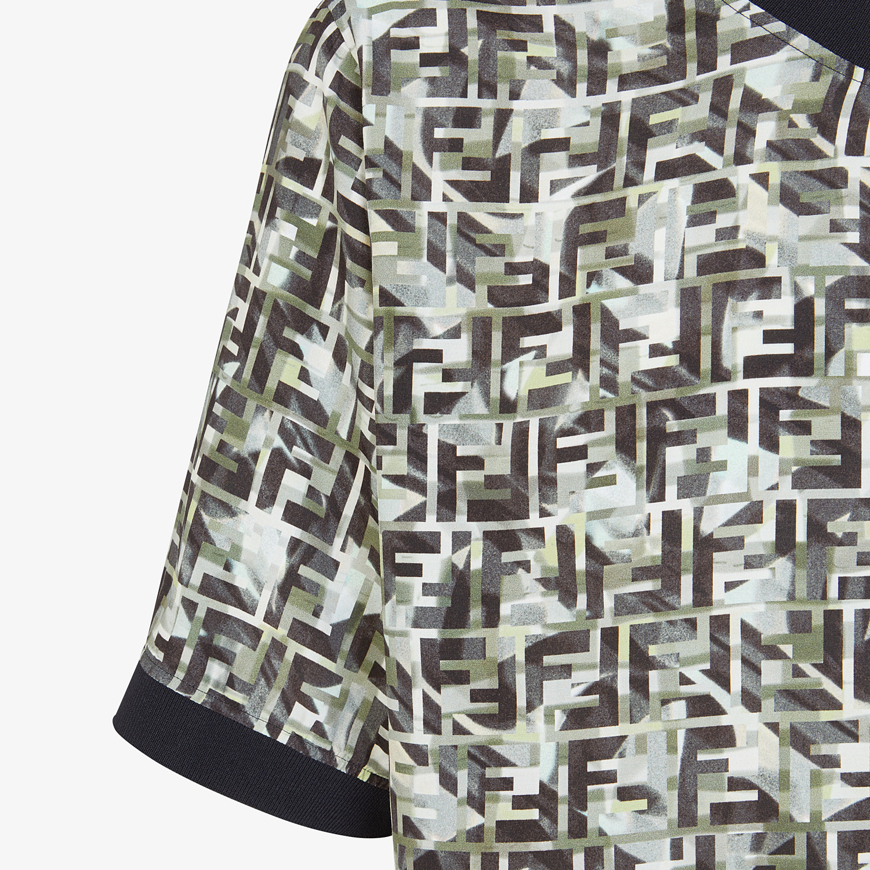 FENDI T-SHIRT - Multicolor viscose T-shirt - view 3 detail