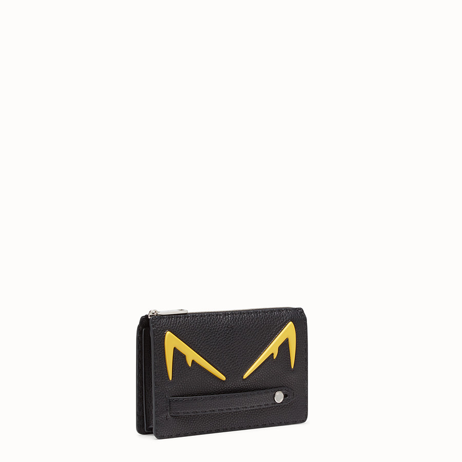 FENDI CLUTCH - Black Romano leather pochette - view 2 detail