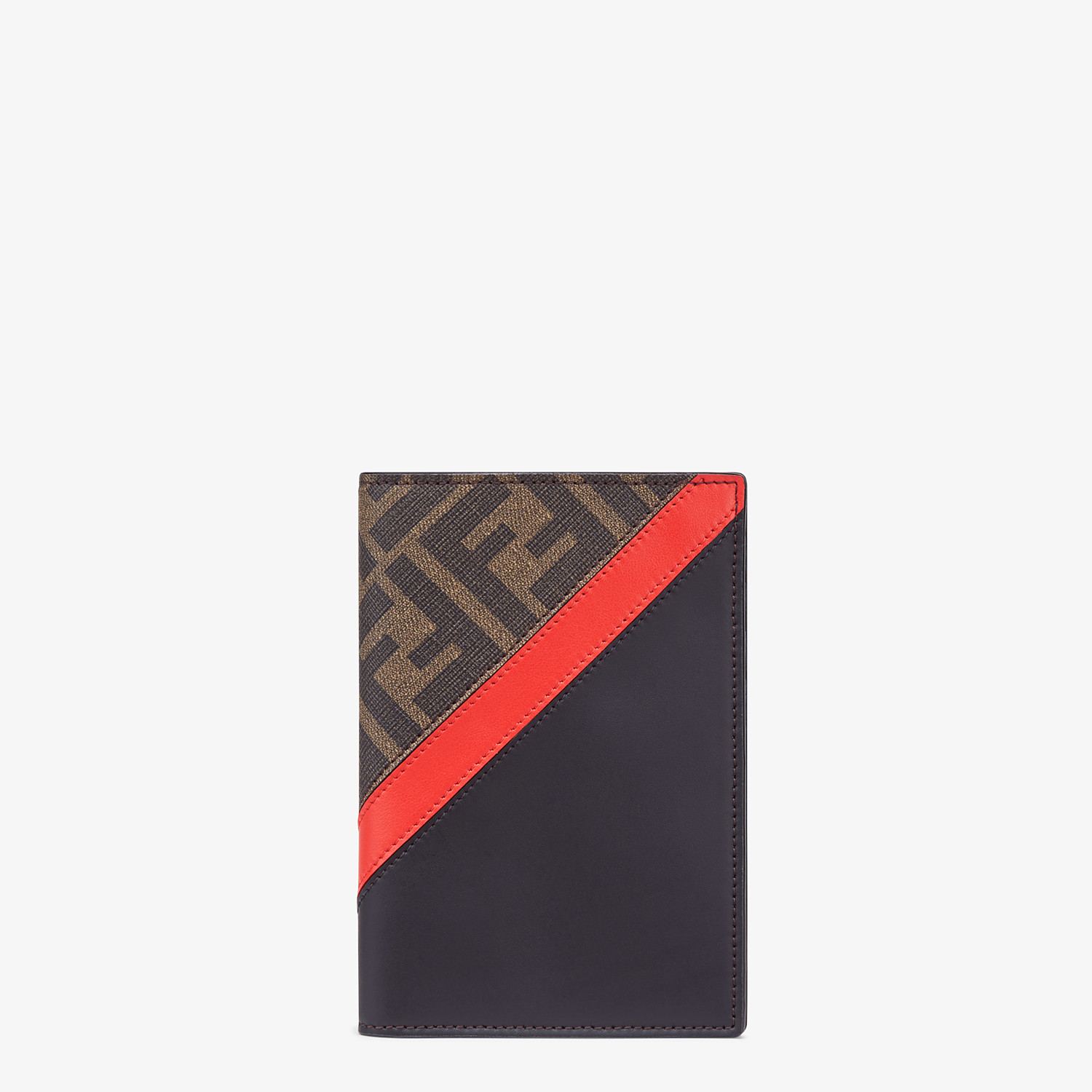 FENDI PASSPORT COVER - Brown fabric passport cover - view 1 detail