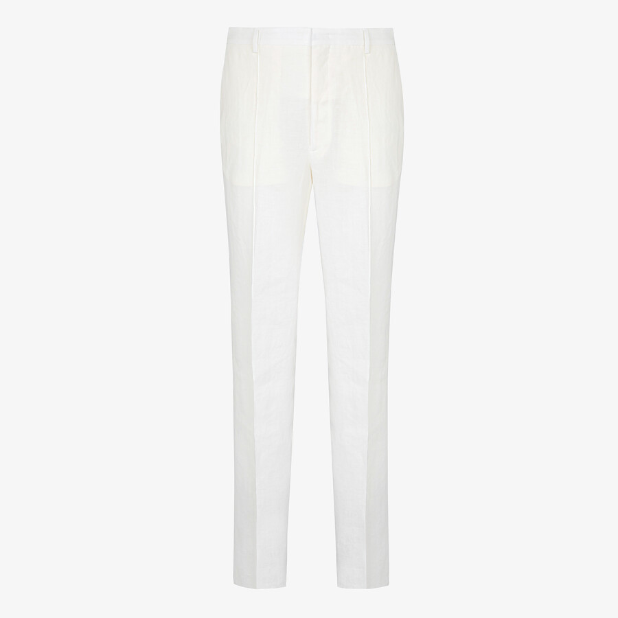FENDI PANTS - Natural hemp fabric pants - view 1 detail