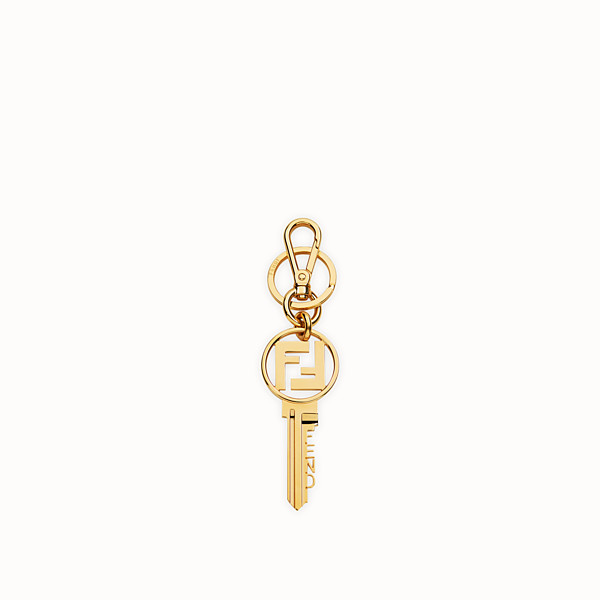 FENDI KEY RING - Gold metal key ring - view 1 small thumbnail