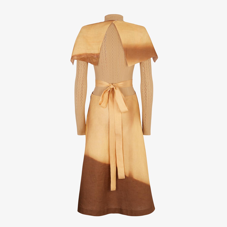 FENDI DRESS - Yellow linen dress - view 2 detail
