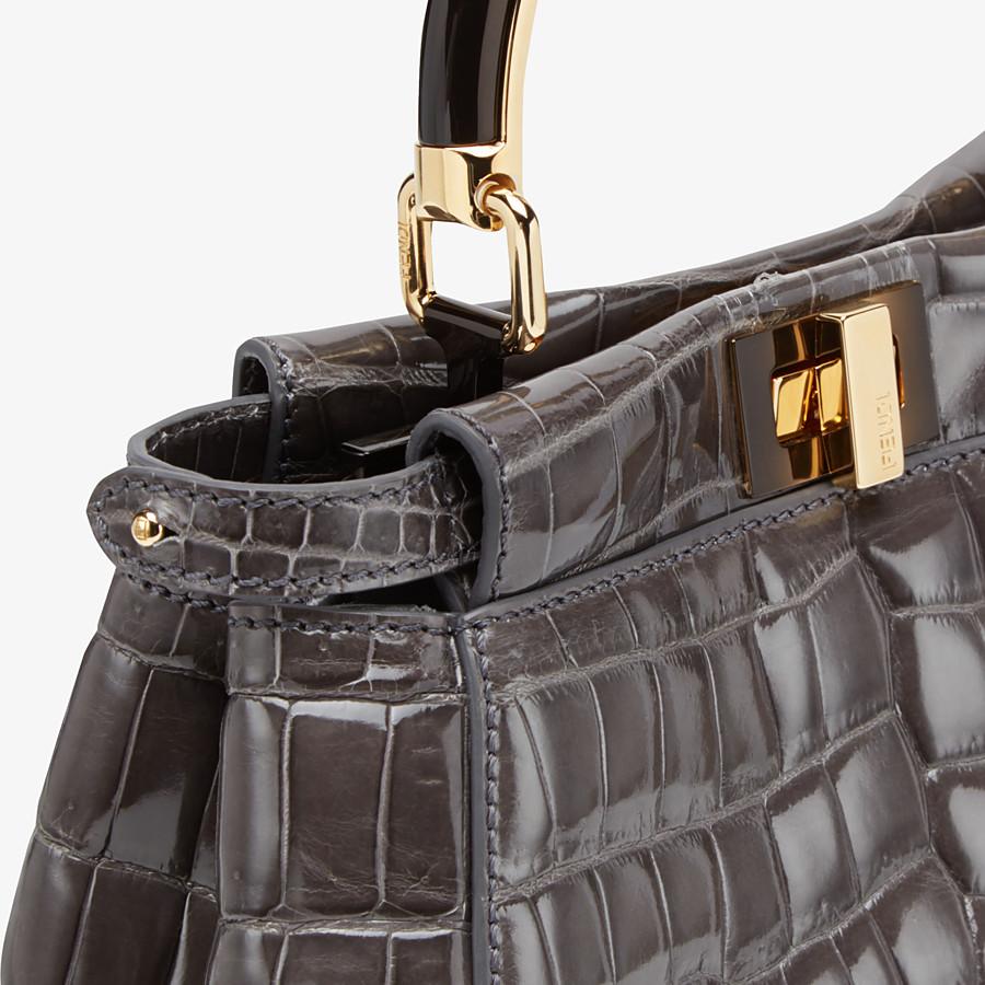 FENDI PEEKABOO ICONIC MINI - Agate-polished crocodile leather bag - view 5 detail