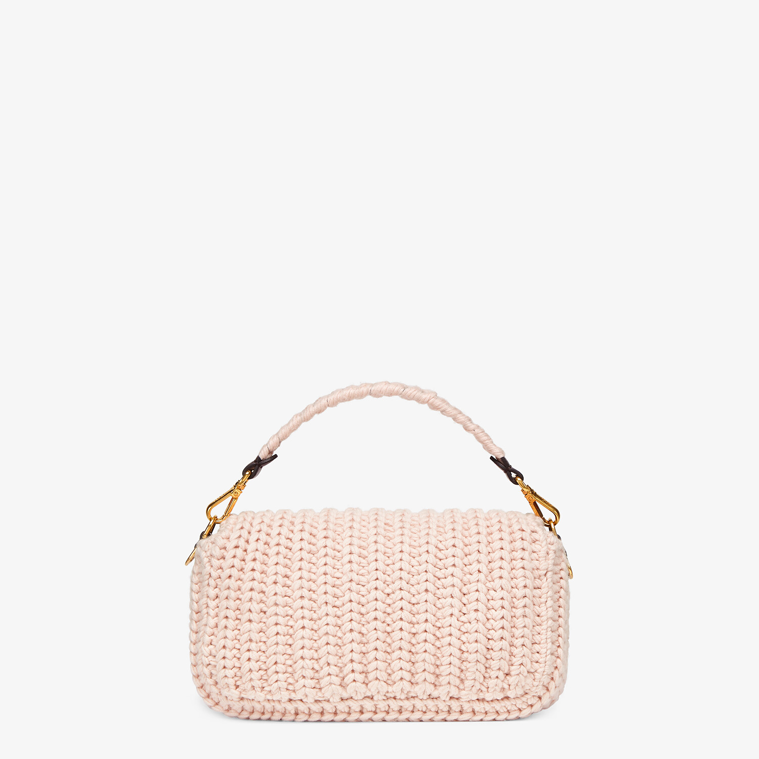 FENDI BAGUETTE - Pink wool bag with fringes - view 4 detail