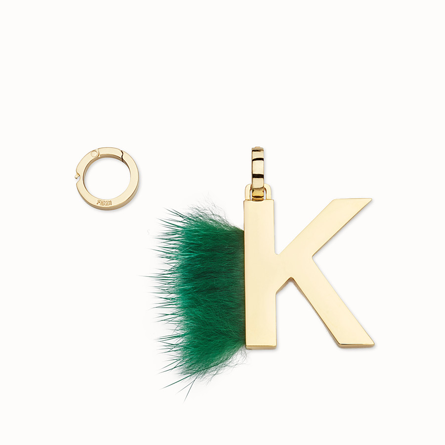 FENDI ABCLICK K - Pendant with green fur - view 1 detail