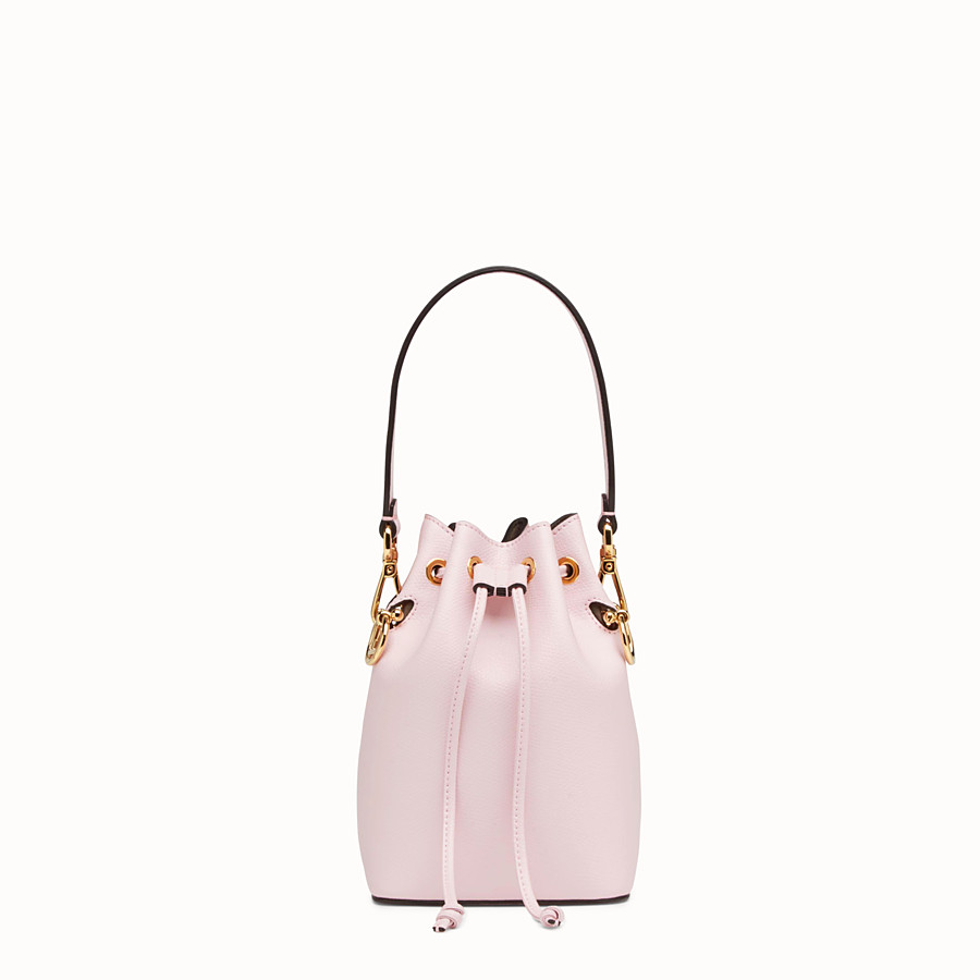 5aa0184dec65 Pink leather mini-bag - MON TRESOR