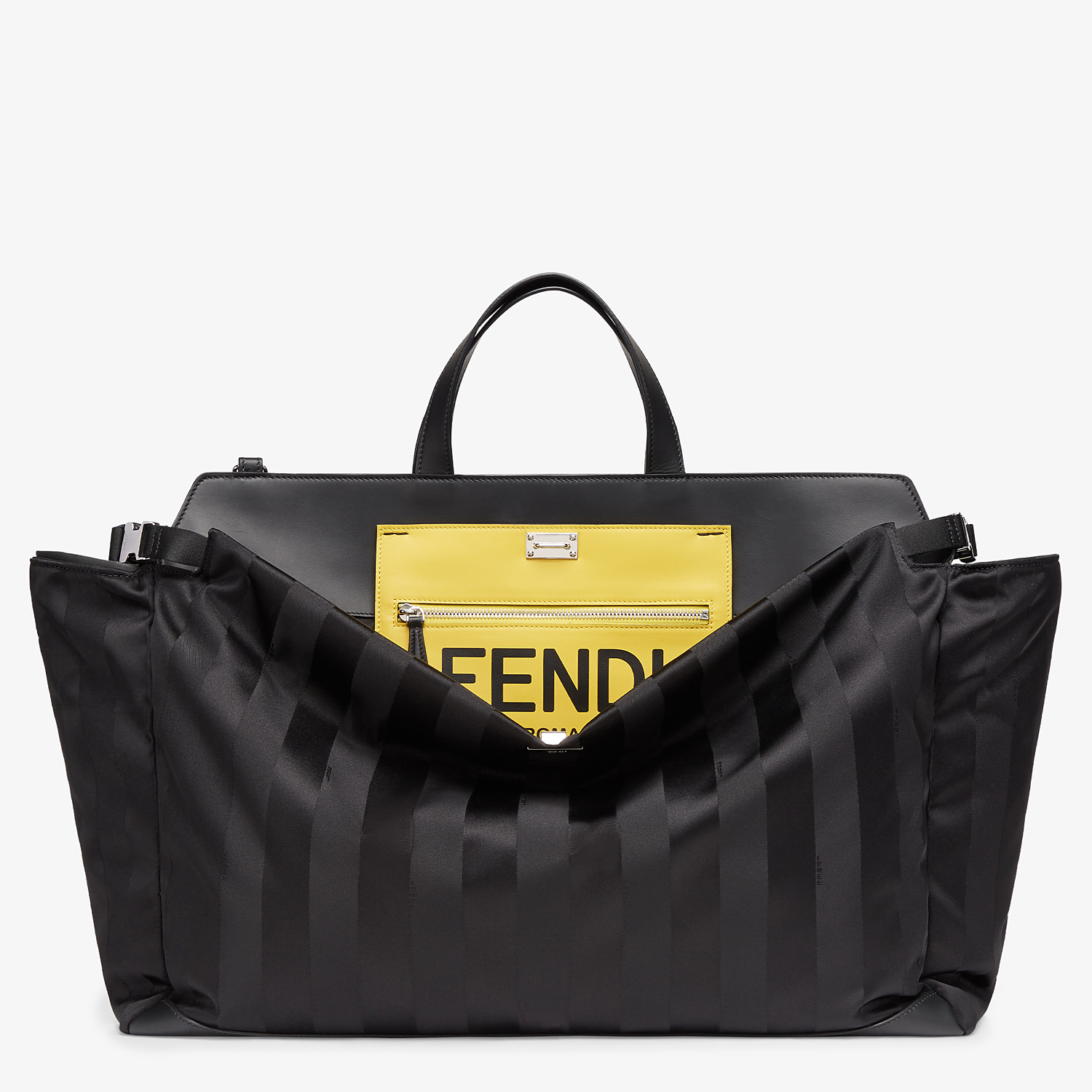 FENDI PEEKABOO ICONIC LARGE - Black nylon bag - view 1 detail