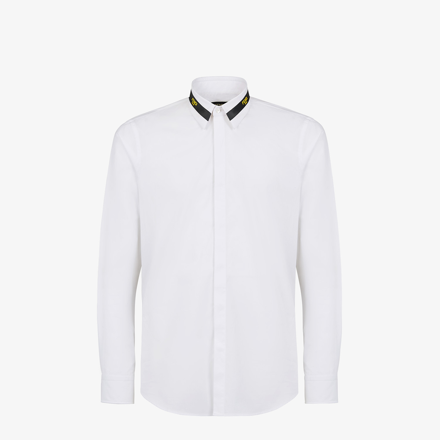 FENDI SHIRT - White cotton shirt - view 1 detail