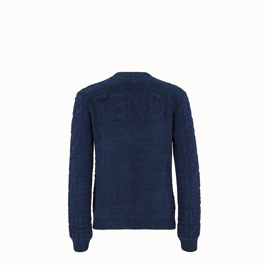 FENDI PULLOVER - Pullover aus Mohair in Blau - view 2 detail