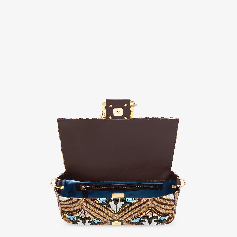 FENDI BAGUETTE - Brown satin bag - view 5 detail