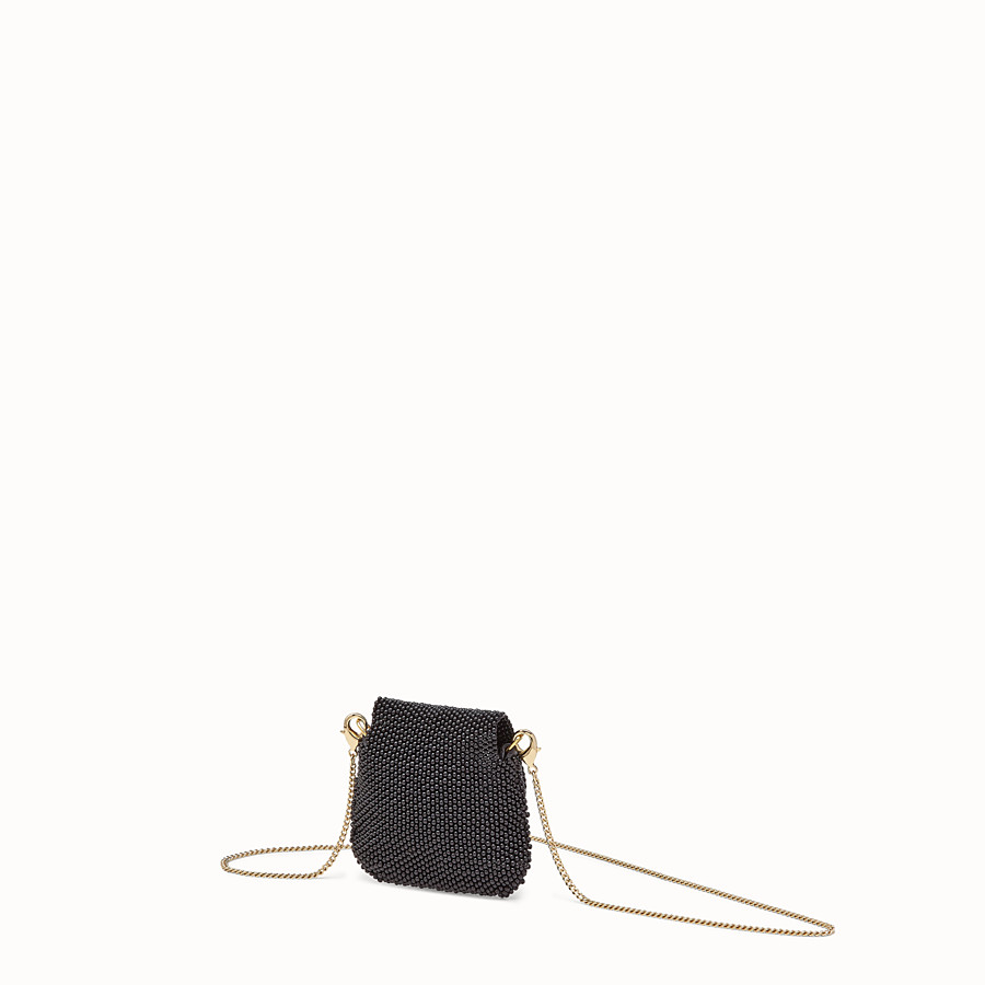 FENDI PICO BAGUETTE CHARM - Charm with black beads - view 2 detail