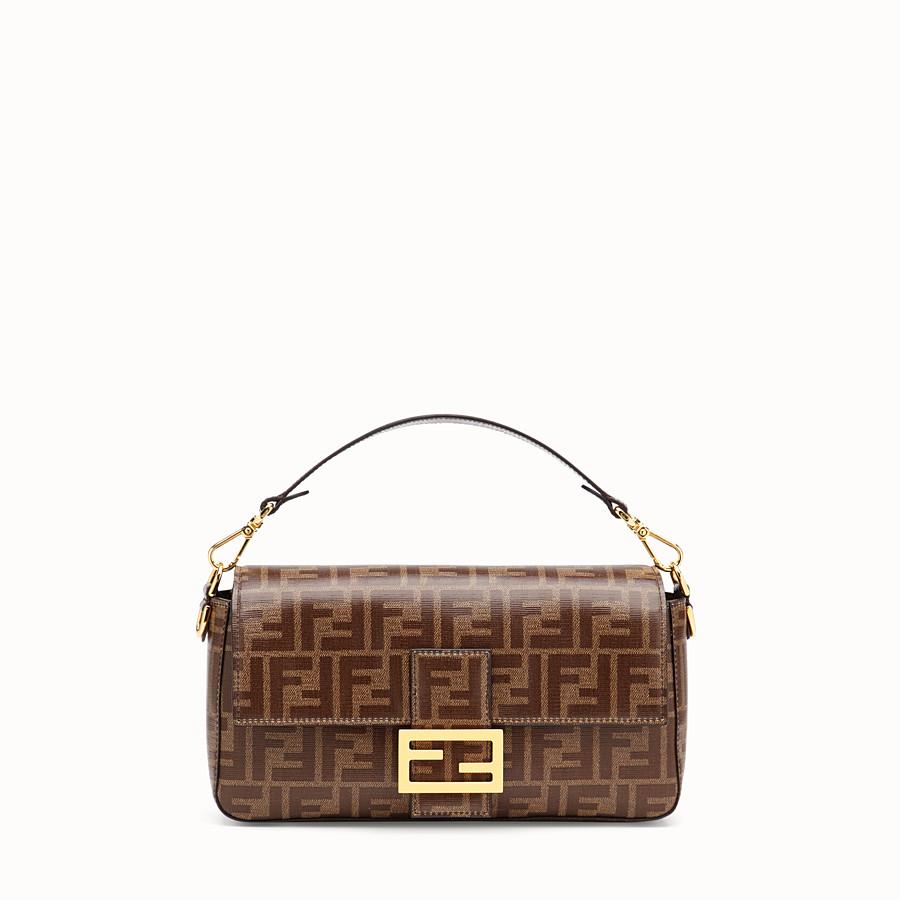 FENDI BAGUETTE CAGE - Brown fabric bag - view 3 detail
