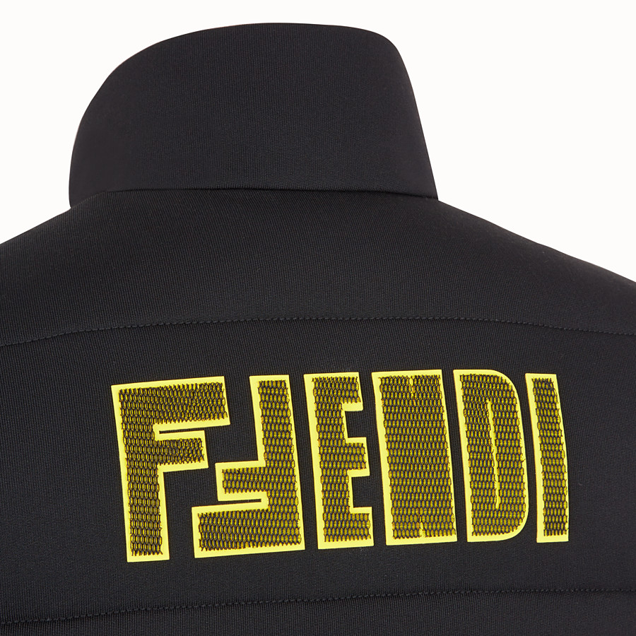 FENDI GILET - Black tech jersey gilet - view 3 detail
