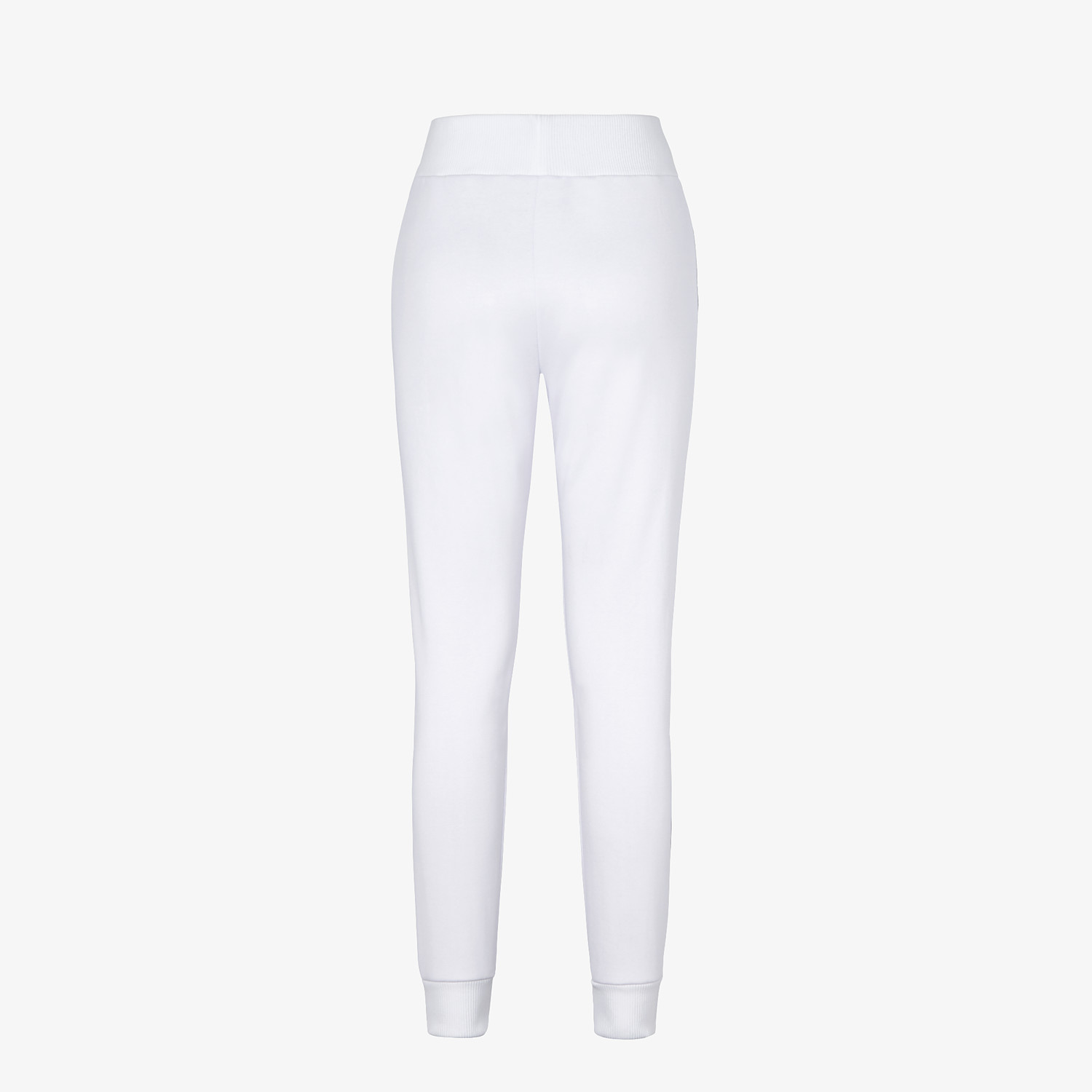 FENDI TROUSERS - White jersey jogging trousers - view 2 detail