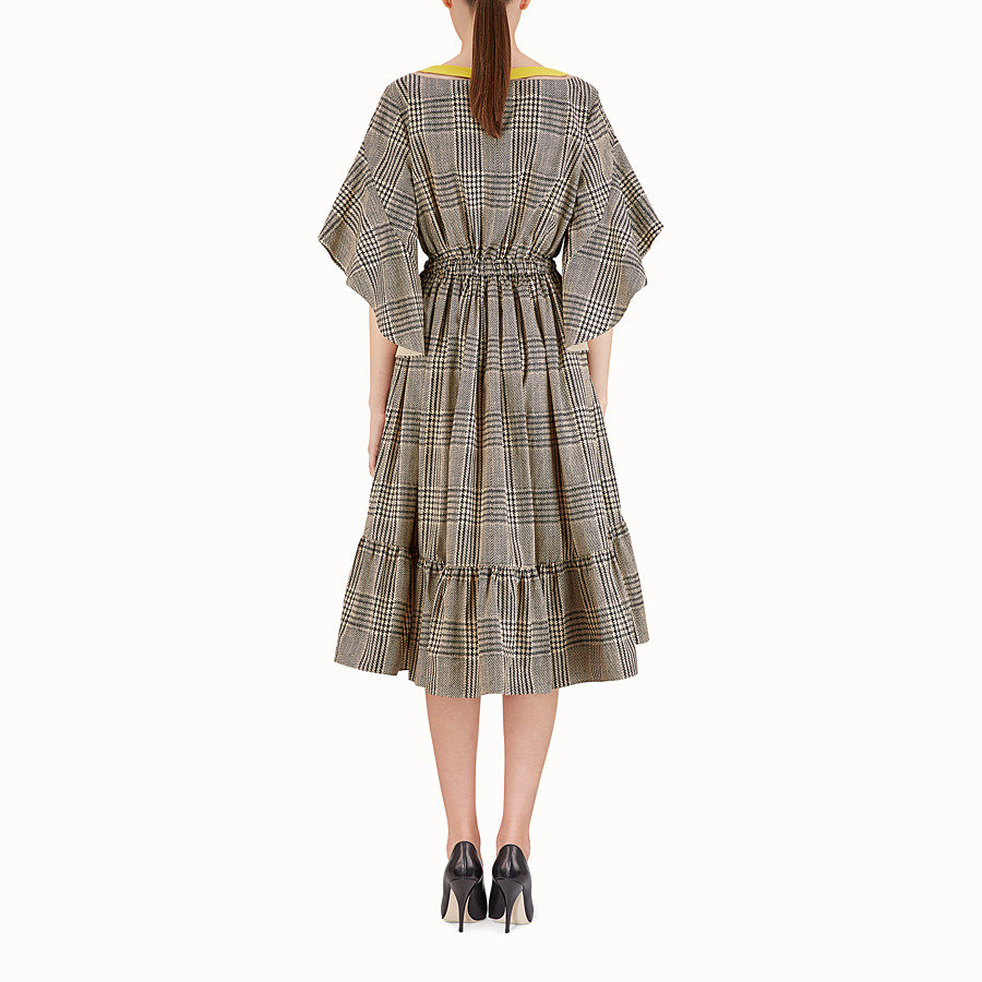 FENDI DRESS - Glen plaid cotton dress - view 2 detail