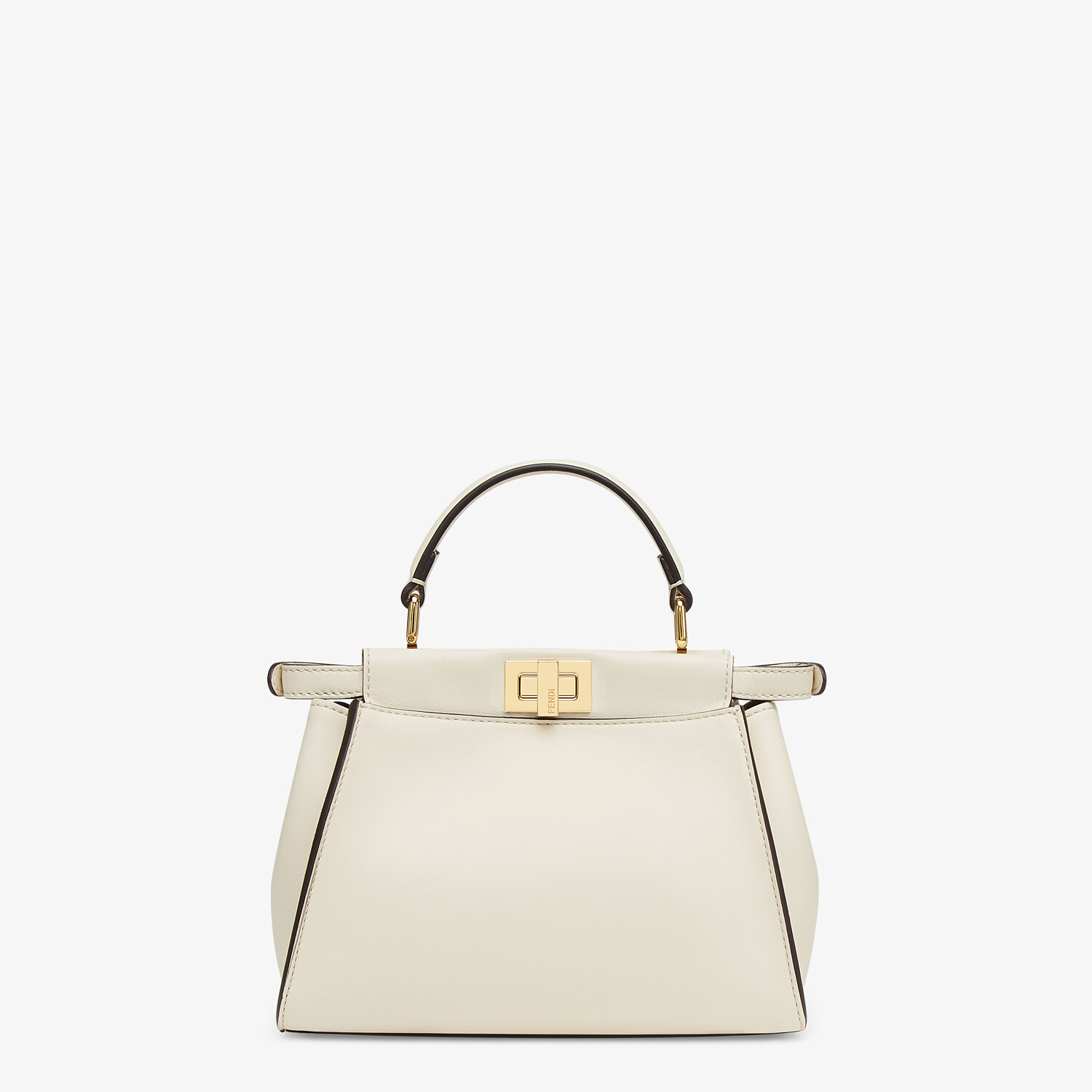 FENDI PEEKABOO ICONIC MINI - White leather bag - view 4 detail
