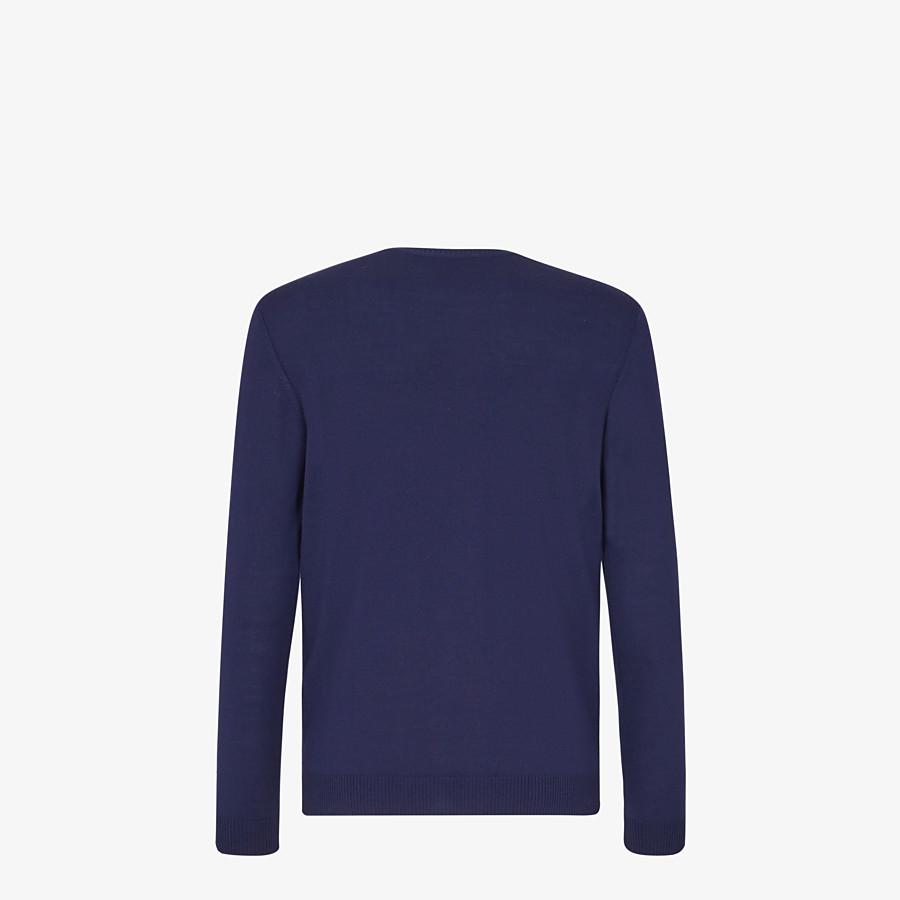FENDI PULLOVER - Pullover aus Wolle in Blau - view 2 detail