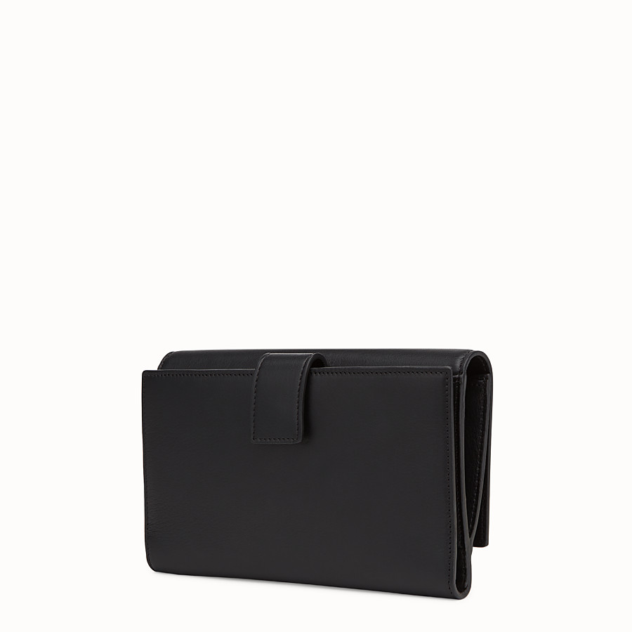 FENDI WALLET - in black leather - view 2 detail