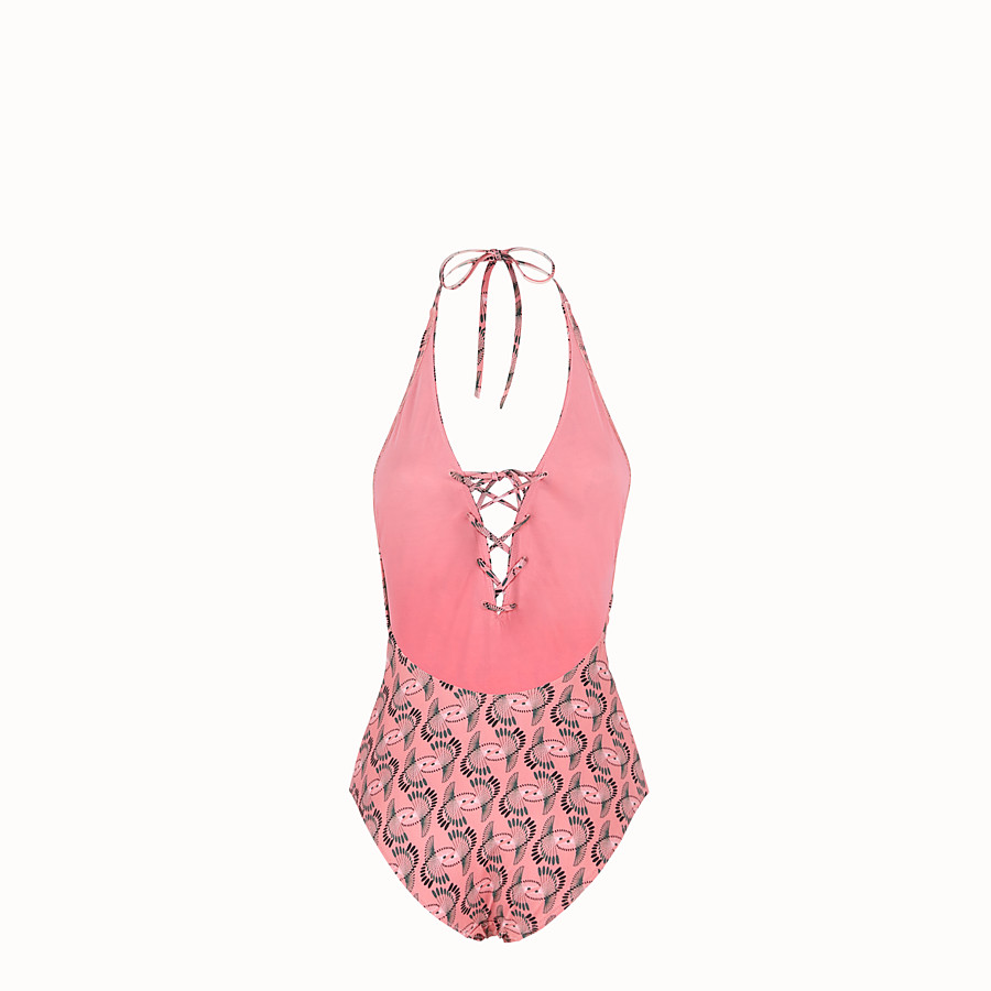 FENDI ONE-PIECE SWIMSUIT - Pink Lycra swimsuit - view 2 detail