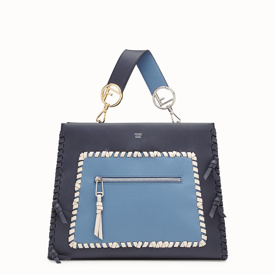 FENDI RUNAWAY REGULAR - 藍色皮革手袋 - view 1 detail