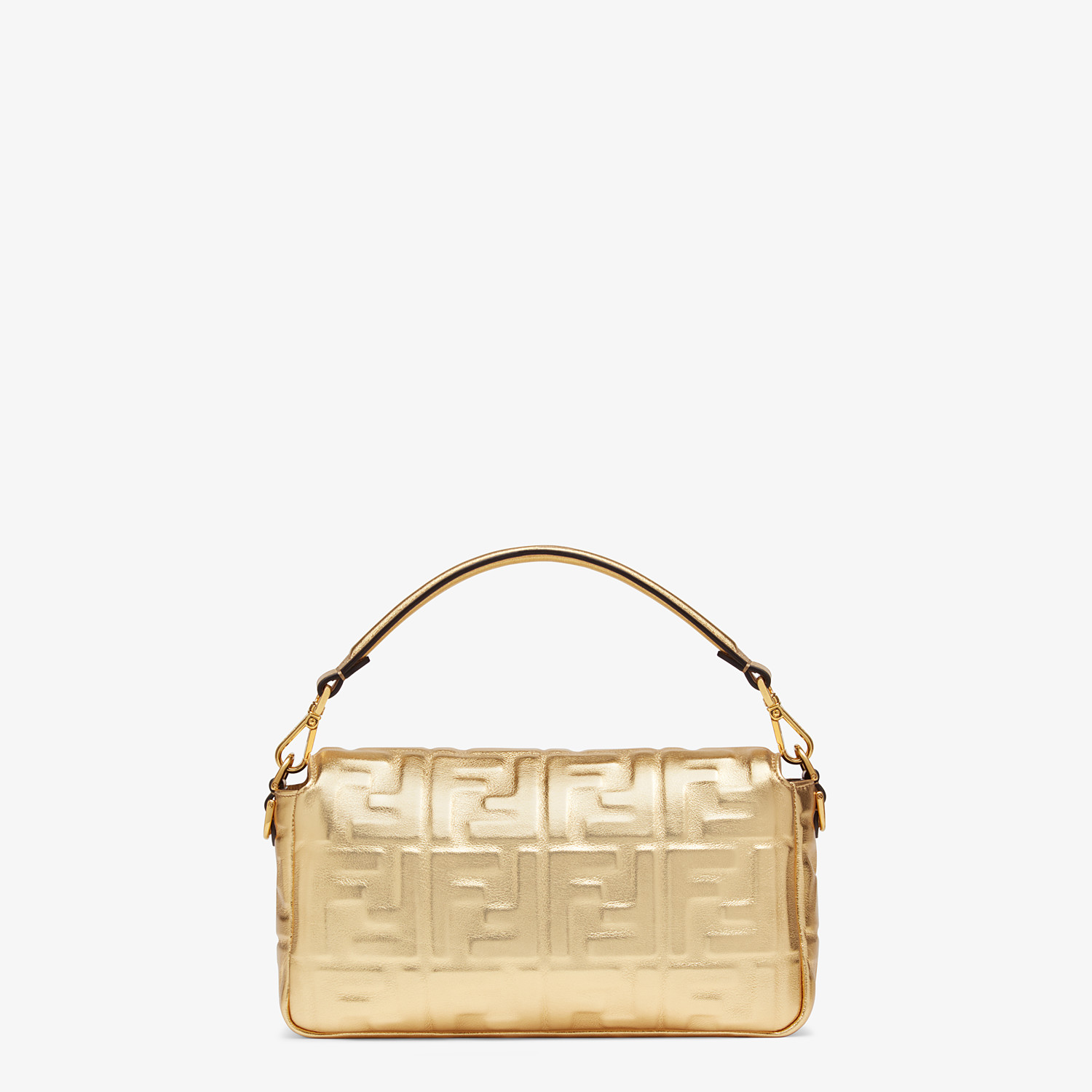 FENDI BAGUETTE - Golden leather bag - view 4 detail