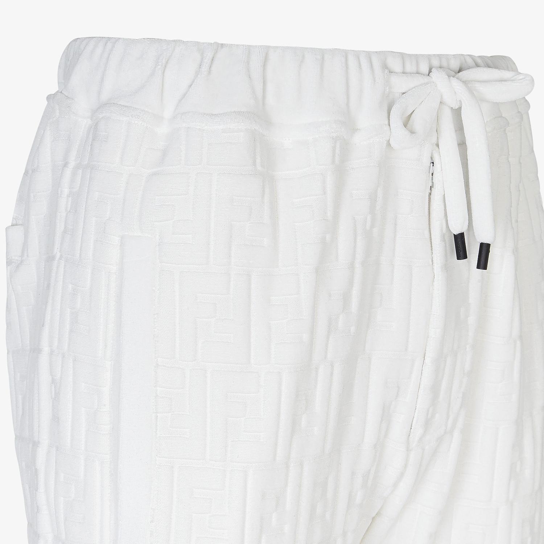 FENDI PANTS - White chenille pants - view 3 detail