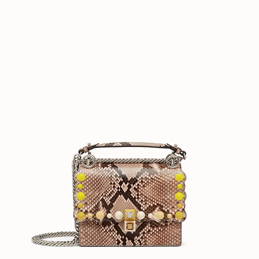 FENDI KAN I SMALL - Pink python mini-bag - view 1 detail